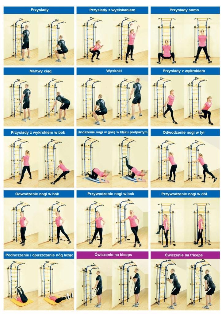 Ćwiczenia na gumach treningowych Romana